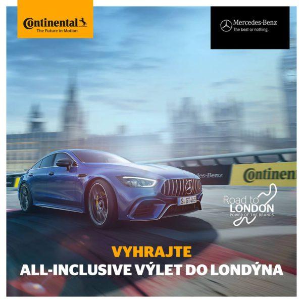 Vyhrajte all-inclusive výlet do Londýna od Continental a Mercedes-Benz