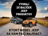 Vyhraj 2x balíček produktov Jeep