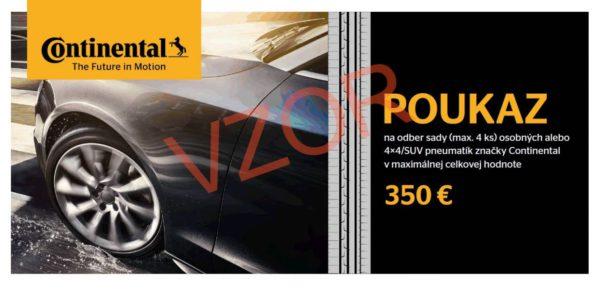 Vyhraj poukaz na sadu pneumatík Continental v hodnote 350 €