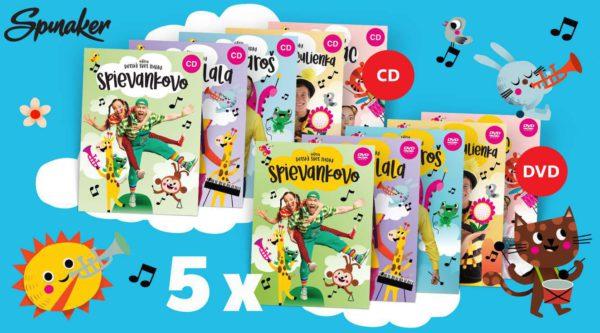 Hrajte o 5 x kompletnú sadu CD a DVD