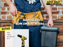 Súťaž o AKU vŕtací skrutkovač od AutoKelly