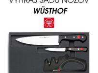 Súťaž o súpravu kvalitných nožov značky WÜSTHOF