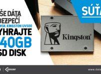 Vyhraj SSD disk od spoločnosti Kingston