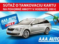 Vyhraj tankovaciu kartu v hodnote 200 eur