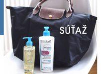 Súťaž o kabelku Longchamp a balíčky so sprchovým olejom a telovým krémom Atoderm