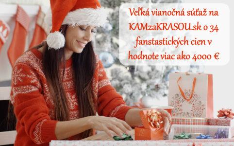 Veľká vianočná súťaž na KAMzaKRASOU.sk o 34 cien v hodnote viac ako 4000 €