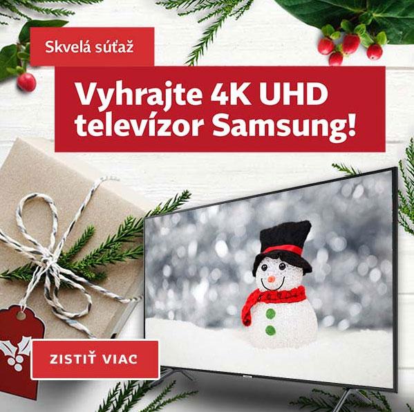 Vyhrajte 4K UHD televízor Samsung