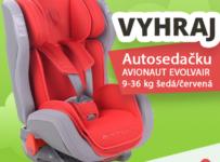 Súťaž o autosedačku AVIONAUT EVOLVAIR (9-36) šedá-červená v hodnote 132 €