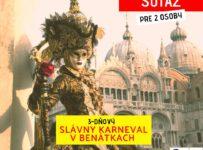 Súťaž o slávny karneval v Benátkach pre 2 osoby