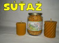 Súťaž o sušený včelí peľ a 2 x voskové sviečky priamo od včelára