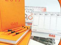 Súťaž o diáre, kalendáre a perá GAS