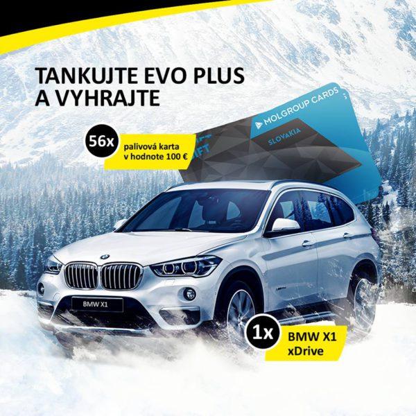 Tankuj EVO a vyhraj nové BMW X1 xDrive alebo 56x palivovú kartu MOL