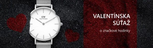 Valentínska súťaž o značkové hodinky Daniel Wellington Classic Petite Sterling DW00100164