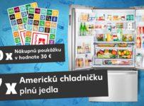 Vyhrajte americkú chladničku plnú jedla a nákupné poukážky