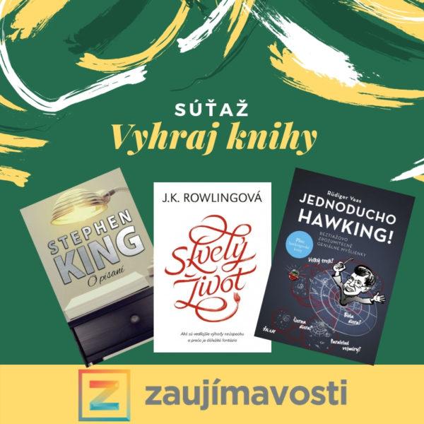 Vyhrajte tri skvelé knihy pre seba či svojich blízkych