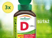 Súťaž o 3x JAMIESON Vitamín D3 1000 IU 240 tbl.
