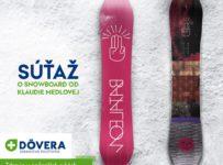 Súťaž o snowboard od Klaudie Medlovej