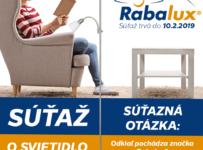 Vyhrajte svietidlo značky RABALUX