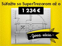 Súťažte so SuperTrezorom o výhru 1.234€