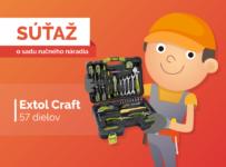 Súťaž o 57-dielnu sadu ručného náradia Extol Craft