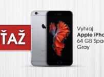 Súťaž o Apple iPhone 6S 64GB Space Gray