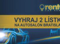 Súťažte s RenterCar Autopožičovnou o dva lístky na autosalón Bratislava
