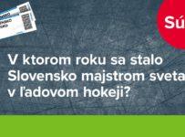 Súťaž o 8x2 lístky na prípravný hokejový zápas Slovensko - Česko