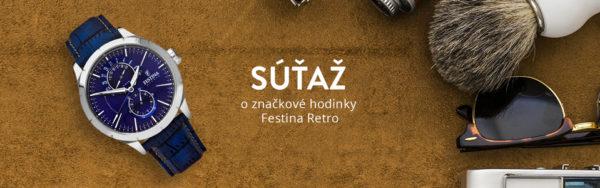 Súťaž o značkové hodinky Festina Retro 16573/7