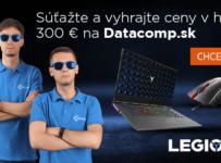 Súťažte a vyhrajte ceny v hodnote 300€ od Datacomp.sk