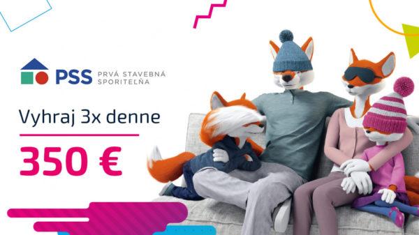 Vyhraj 350 € od Prvej stavebnej sporiteľne