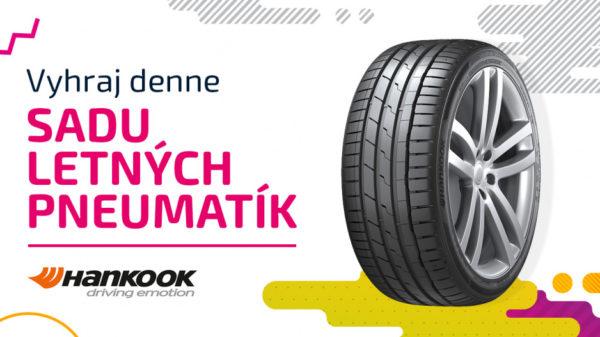 4 kusy letných pneumatík Hankook podľa vlastného výberu, do výšky 400 €.