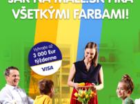 Vyhrajte až 3.000 Eur týždenne na ďalší nákup pri platbe kartou Visa