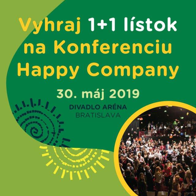 Súťaž o 2 vstupy na konferenciu Happy Company