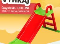 Súťaž o bestseller od DOLONI - Šmykľavku 140 cm červenozelenú