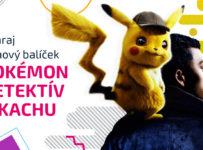 Súťaž o filmový balíček k filmu Pokémon detektív Pikachu