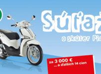 Súťaž o skúter Piaggio Liberty 125 s príslušenstvom za 3 000 €