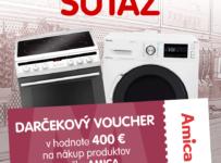 Súťaž o voucher na nákup produktov Amica v hodnote 400 €