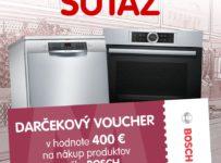 Súťaž o voucher na nákup produktov Bosch v hodnote 400 €