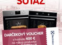 Súťaž o voucher na nákup produktov Electrolux