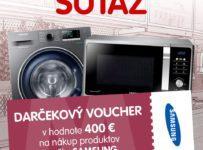 Súťaž o voucher na nákup produktov Samsung v hodnote 400 €