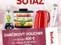 Súťaž o voucher na nákup produktov Tefal v hodnote 400 €
