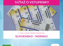 Súťaž o vstupenky na zápas Slovensko - Nórsko v Michalovciach