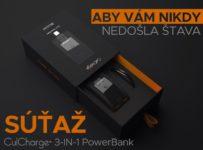 Vyhraj powerbank CulCharge 3in1 aby ti nikdy nedošla šťava