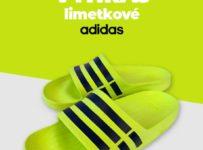 Vyhraj limetkové šľapky Adidas