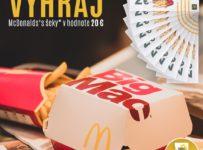 Vyhrajte McDonald's šeky v hodnote 20 €