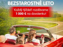 Bezstarostné leto, vyhrajte 1 000 € na dovolenku
