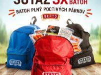 Súťaž o 3 BERTO batohy plné Poctivých párkov