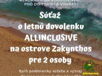 Súťaž o letnú dovolenku na Zakynthose pre 2 osoby