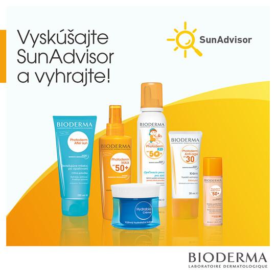 Vyskúšajte SunAdvisor a vyhrajte 3x balíček produktov Bioderma