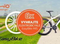 Súťaž o šesť elektrobicyklov EASYBIKE MI5